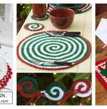 Christmas Placemat Set Free Crochet Patterns