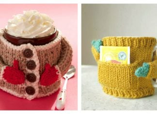 Coffee Cozy Sweaters Free Kniiting Pattern and Video Tutorial