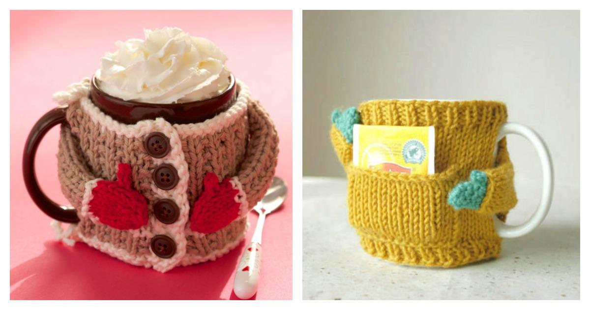 Mug Cozy Sweater Knitting Pattern