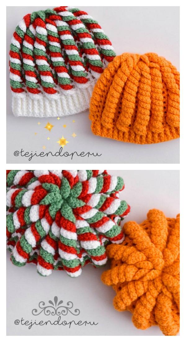 Crochet 3D Serpentine Stitch Hat Video Tutorial