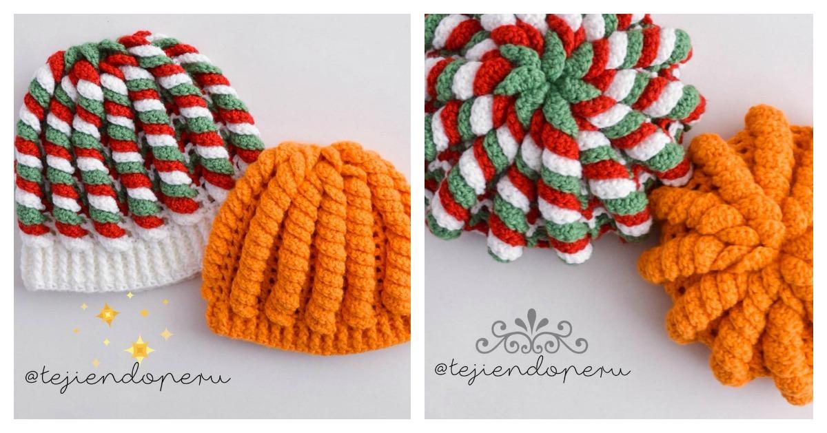 Crochet 3D Serpentine Stitch Hat Video Tutorial d7a5b9eca5c