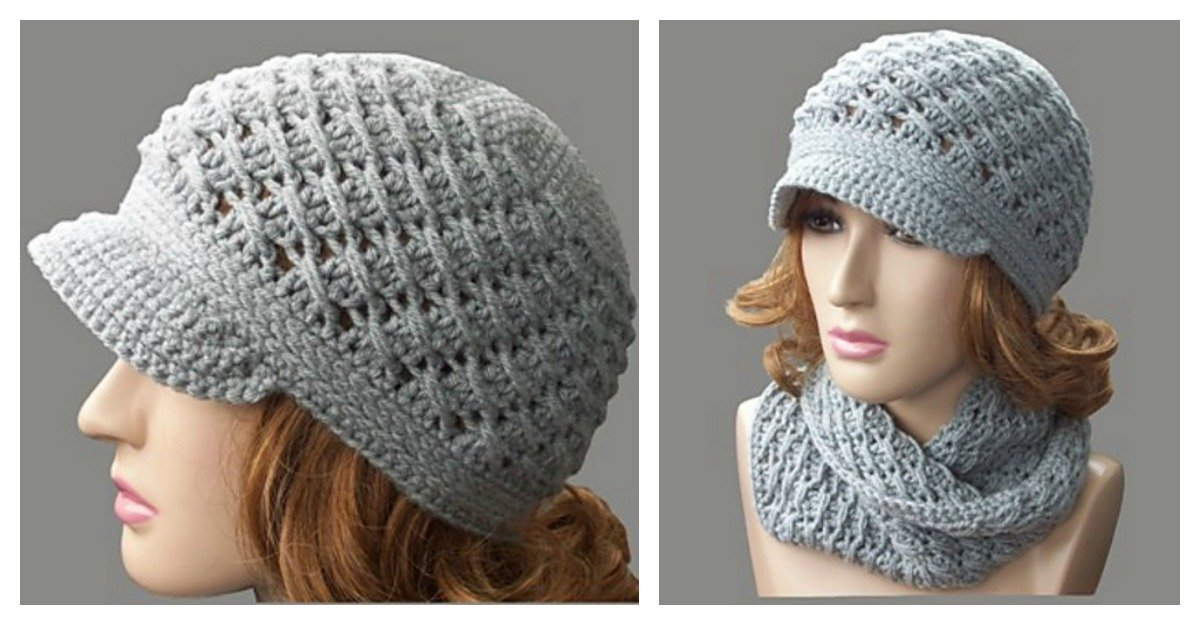 Cross Over Long Dc Newsboy Hat Free Crochet Pattern