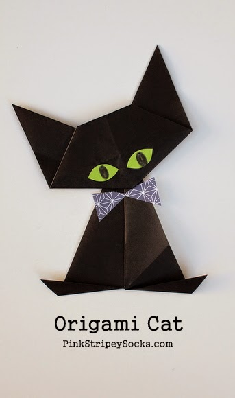 Halloween Origami Cat Paper Crafts for Kids