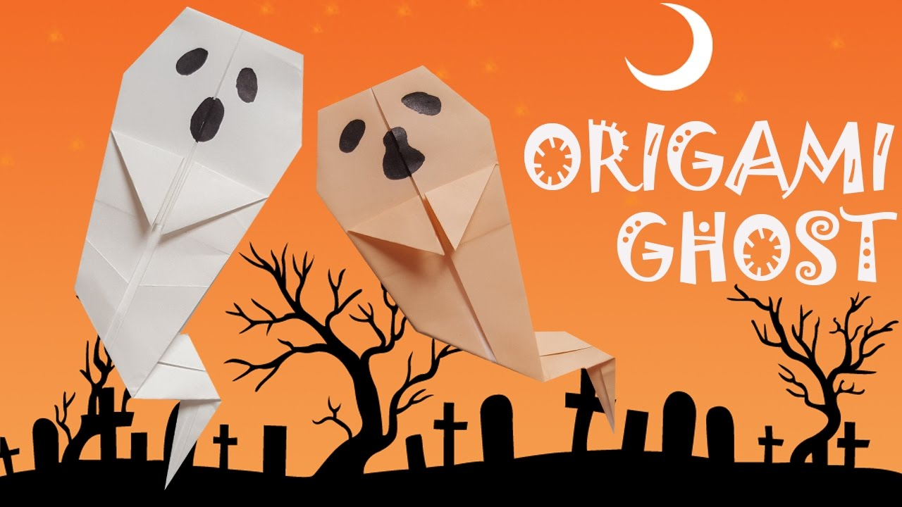 Halloween Origami Ghost Paper Crafts for Kids