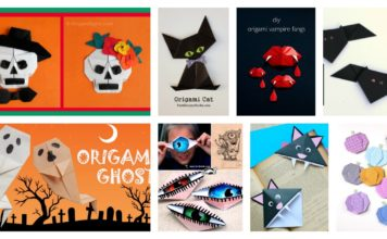 Halloween Origami Paper Crafts for Kids