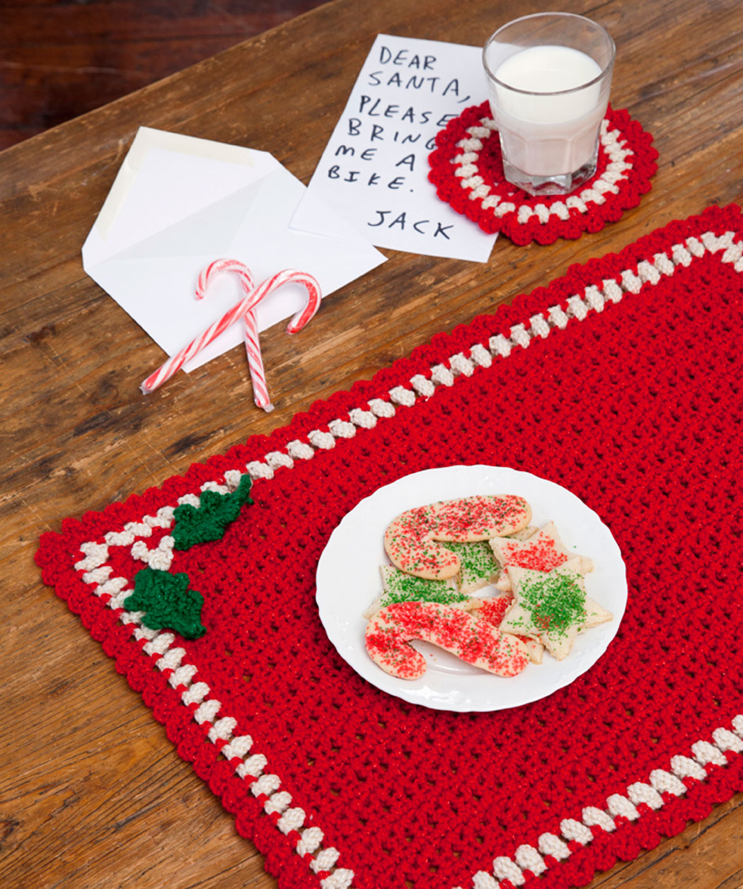 Holiday Placemat Set Free Crochet Pattern
