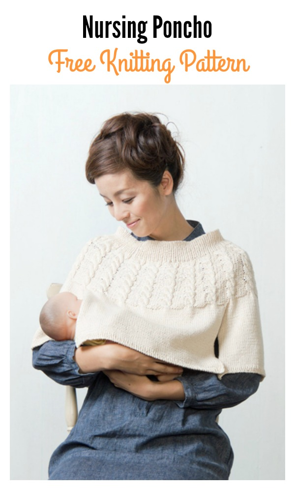 Nursing Poncho Free Knitting Pattern