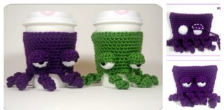 Octopus Coffee Cup Cozy Free Crochet Pattern