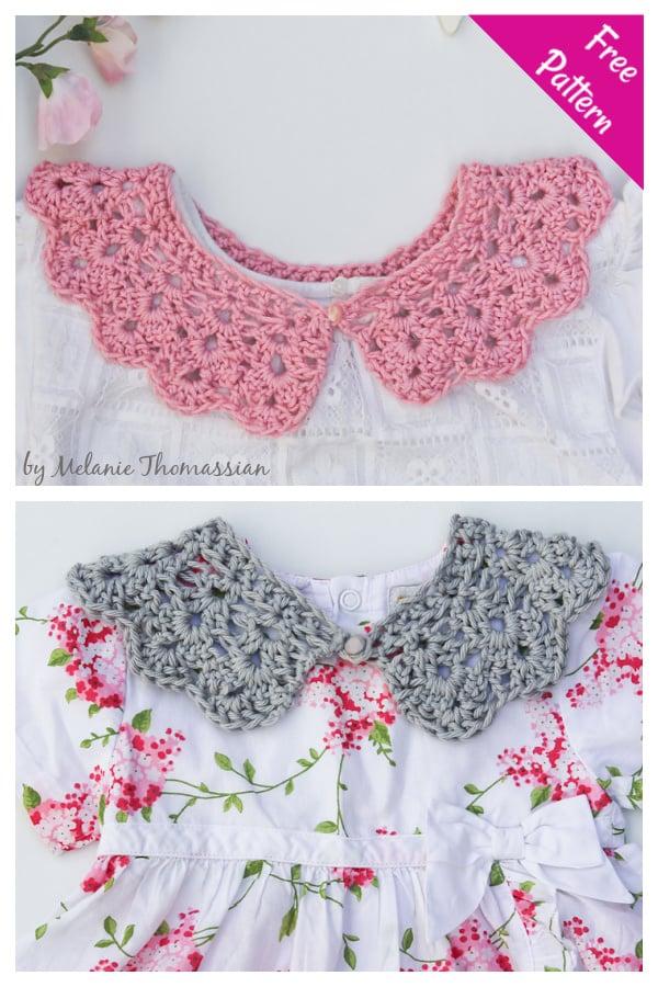 Peter Pan Collar Free Crochet Pattern
