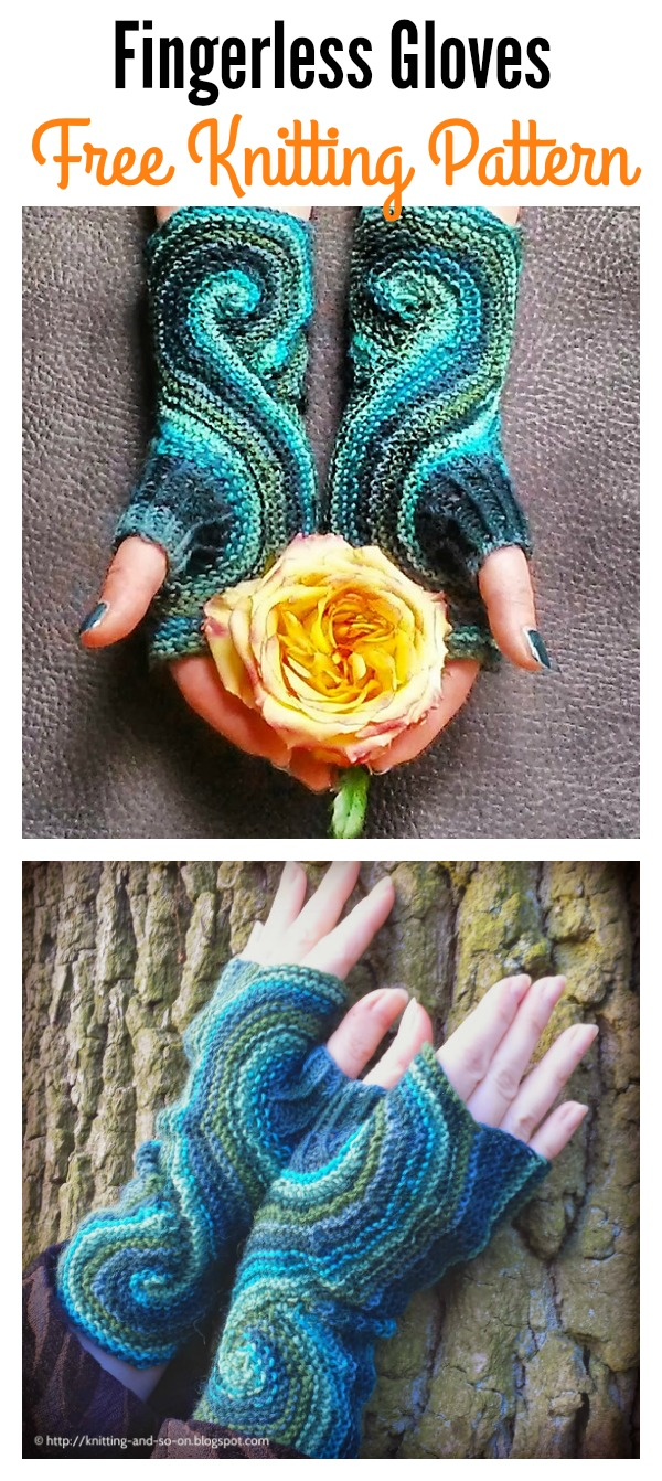Pieces of Eight Fingerless Gloves Free Knitting Pattern
