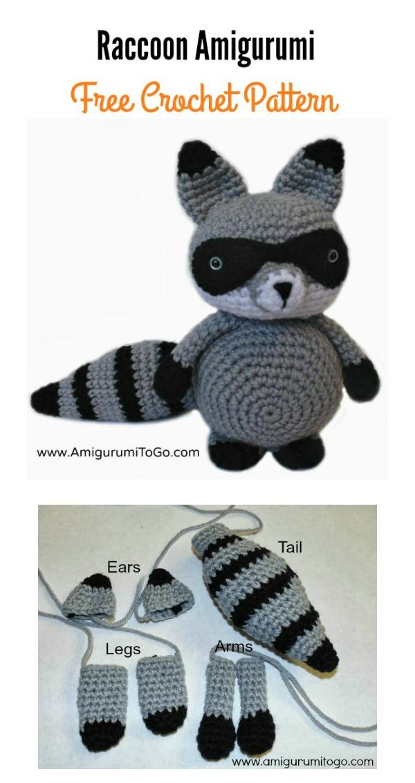 Raccoon Amigurumi Free Crochet Pattern