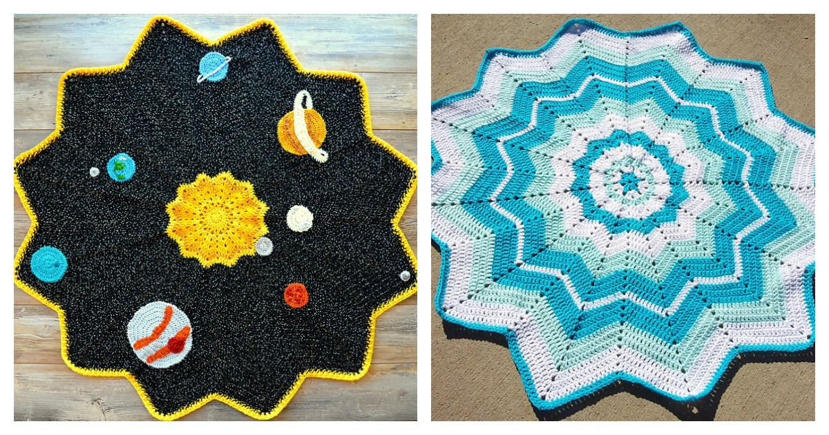 Free crochet patterns for round ripple afghan