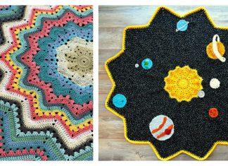 Round Ripple Afghan Baby Blanket Free Crochet Pattern