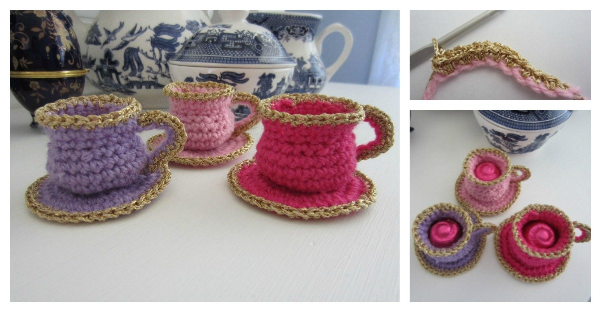 Tea Cup Christmas Ornament Free Crochet Pattern