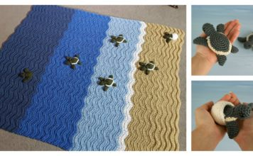 Turtle Beach Blanket Crochet Pattern