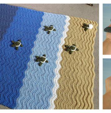 Turtle Beach Blanket Crochet Pattern