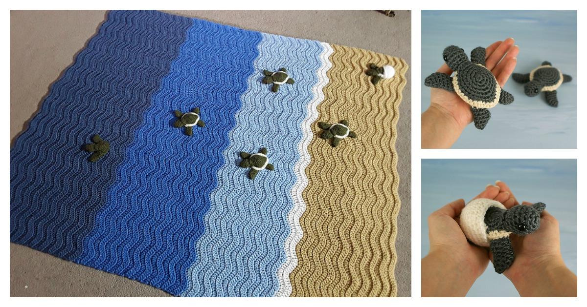 Gorgeous Turtle Beach Blanket Crochet Pattern