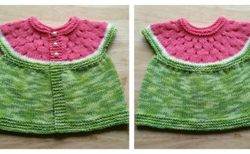 Watermelon Baby Cardigan Free Knitting Pattern