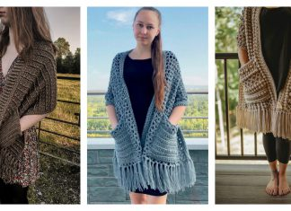 Reader's Wrap Free Crochet Pattern and Paid