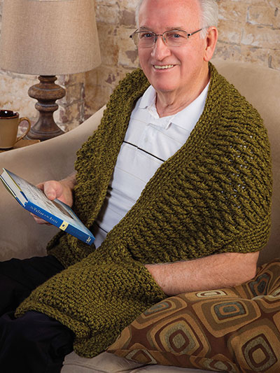 Favorite Guy Reader's Wrap Free Crochet Pattern
