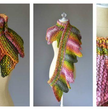18 Petals Scarf Free Knitting Pattern