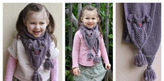 Adorable Owl Scarf Knitting Pattern