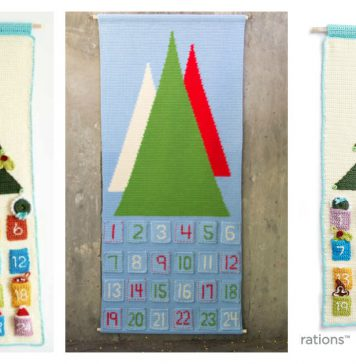 Advent Countdown Calendar Free Crochet Pattern
