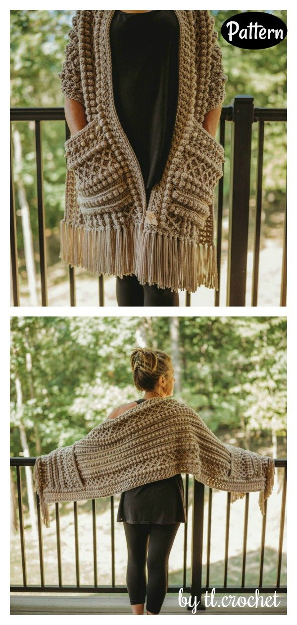 20 Reader S Wrap Pocket Shawl Crochet Patterns Page 3 Of 4