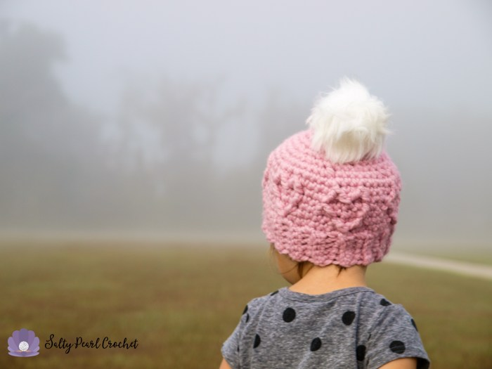 Chunky Cabled Heart Hat Free Crochet Pattern