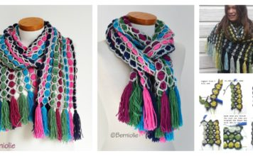 Candy Scarf Free Crochet Pattern