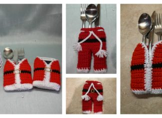 Christmas Cutlery Holder Free Crochet Patterns