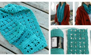 Cube Lace Infinity Scarf Free Crochet Pattern