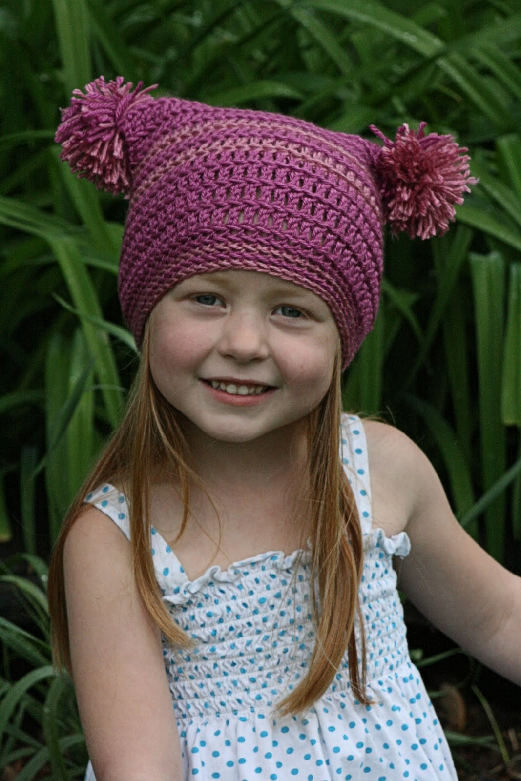 Double Pom Pom Hat Free Crochet Pattern for Beginner - Cool Creativities e26e1835477