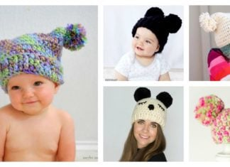 Double Pom Pom Hat Free Crochet Patterns for Beginner
