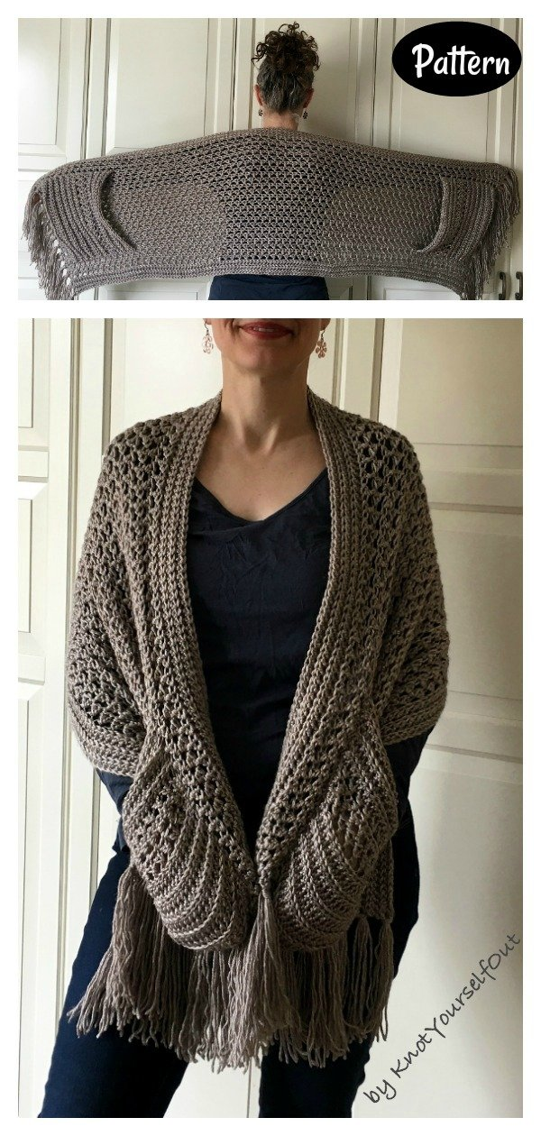 Easy Pocket Wrap Crochet Pattern