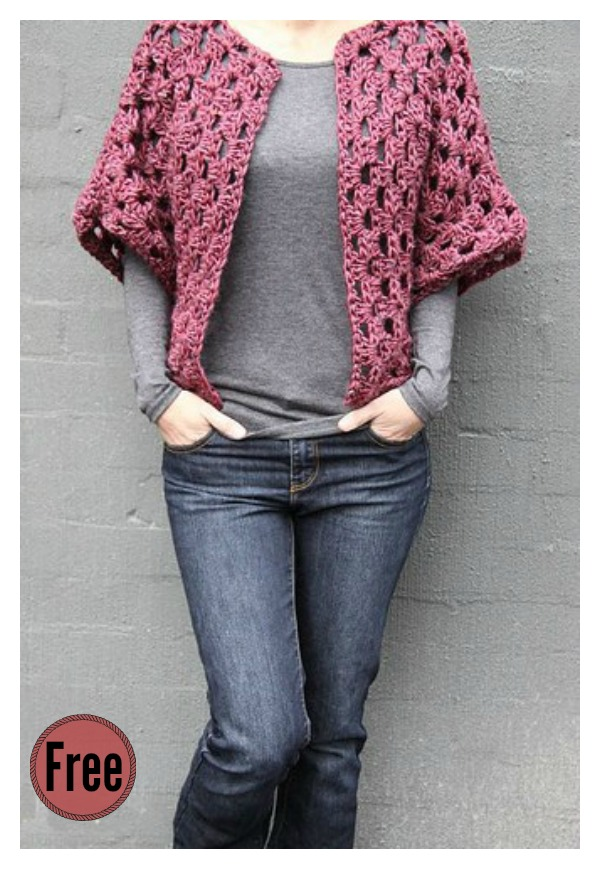 Granny Shrug Free Crochet Pattern Cool Creativities