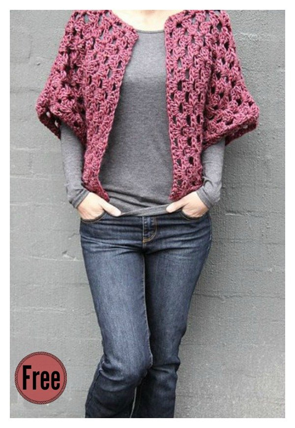 Granny Shrug Free Crochet Pattern