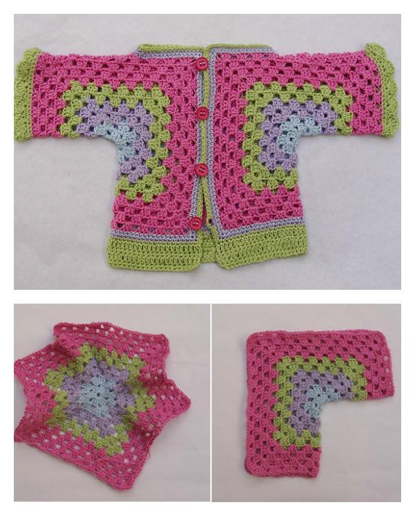 41d094fe5fe2 Hexagonal Baby Cardigan Sweater Free Crochet Pattern - Cool Creativities