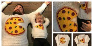 Pizza Pie Sweater Crochet Pattern