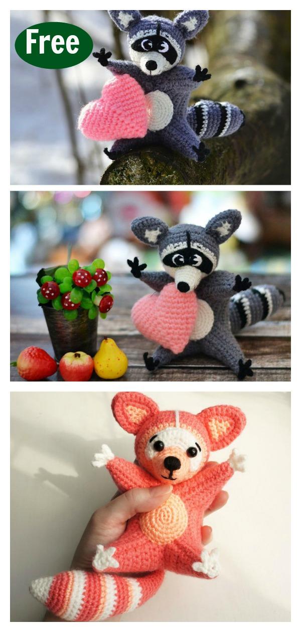 The Silent Raccoon Amigurumi Crochet Free Pattern #amigurumi ... | 1259x600