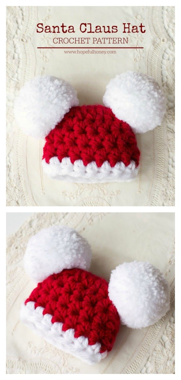 Double Pom Pom Hat Free Crochet Patterns For Beginners