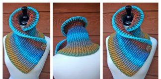 Sassy Autumn Ribbed Cowl Free Crochet Pattern for Beginner