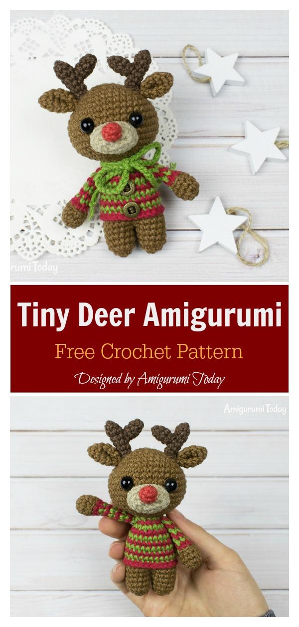 Tiny Deer Amigurumi Free Crochet Pattern