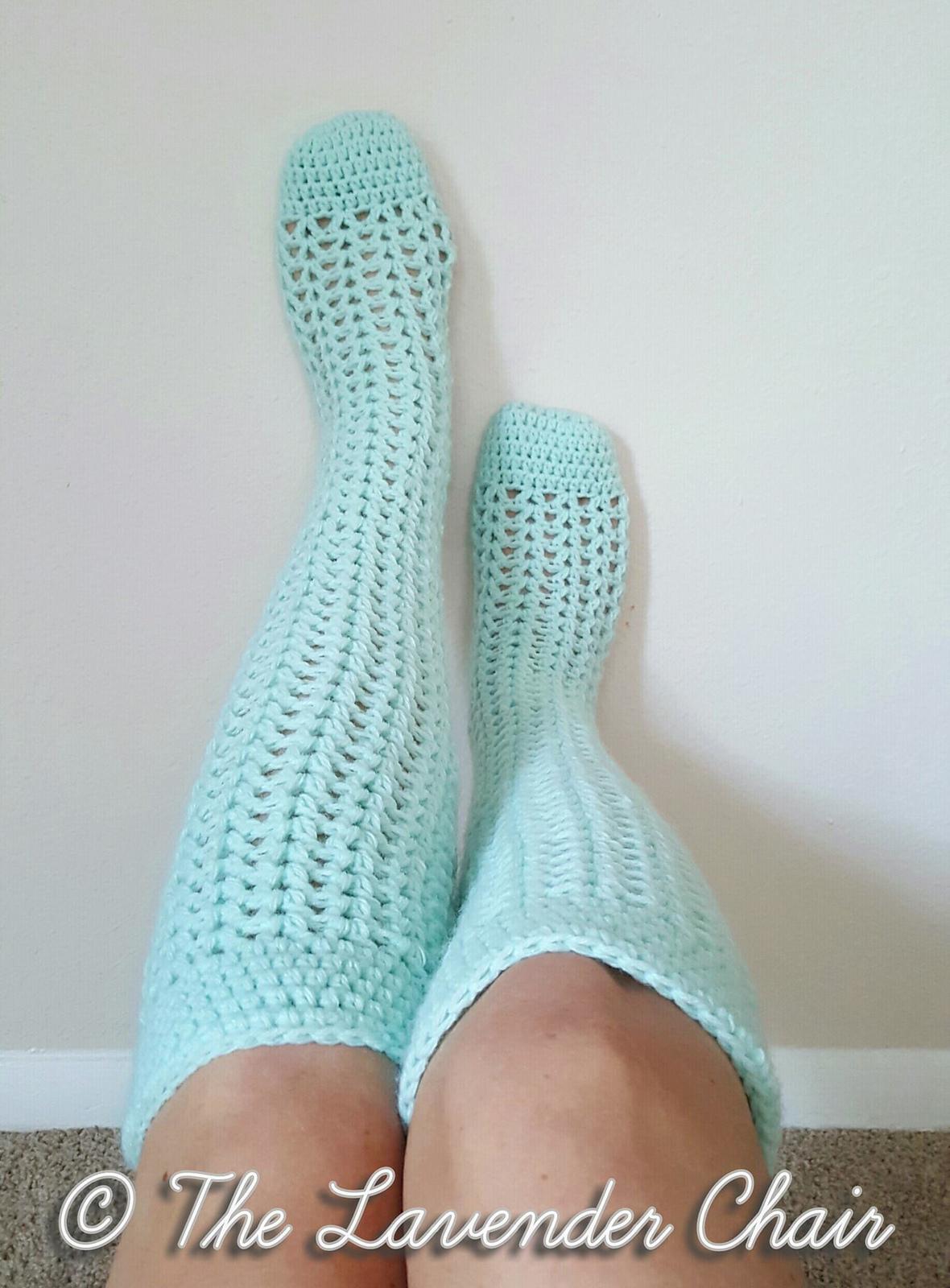 Valerie's Knee High Socks Free Crochet Pattern