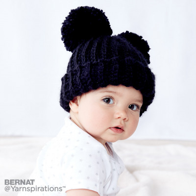 Double Pom Pom Hat Free Crochet Patterns for Beginners 3e90df698b0