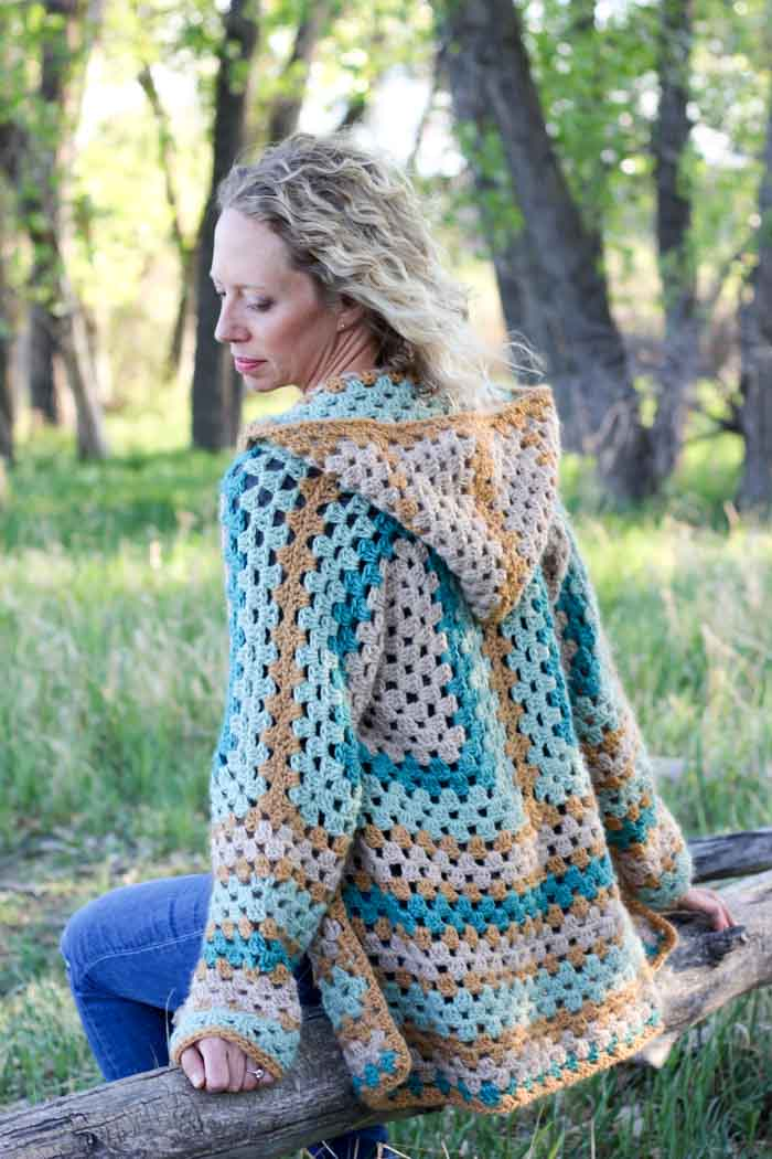 Hexagonal Cardigan Sweater Free Crochet Pattern Cool Creativities