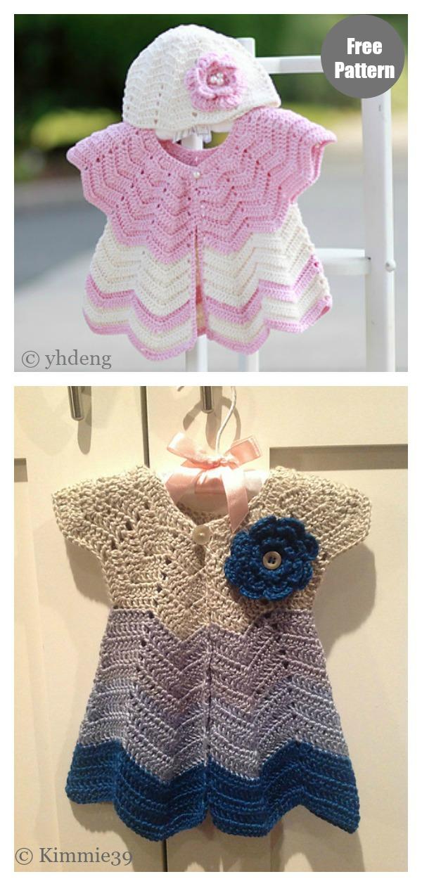 Baby Chevron Cardigan Free Crochet Pattern