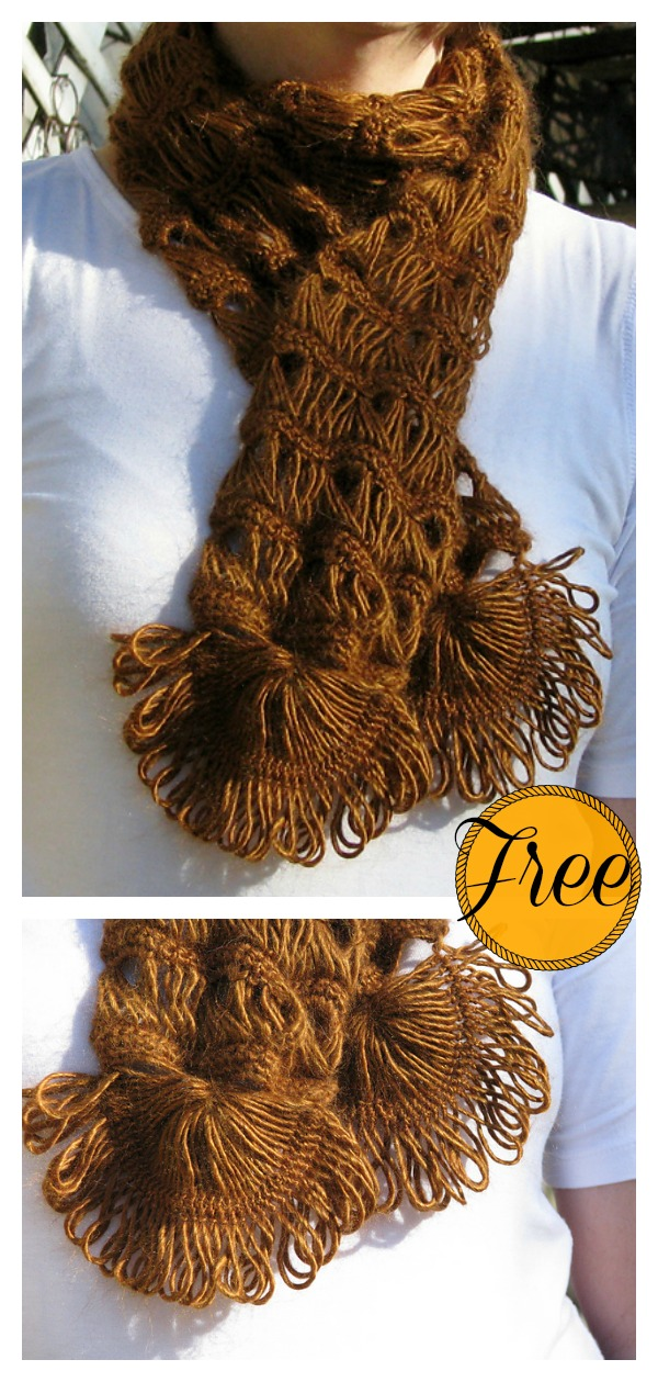 Broomstick Lace Scarf Free Crochet Pattern Cool Creativities