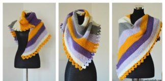 Dragon Tail Shawl Free Knitting Pattern
