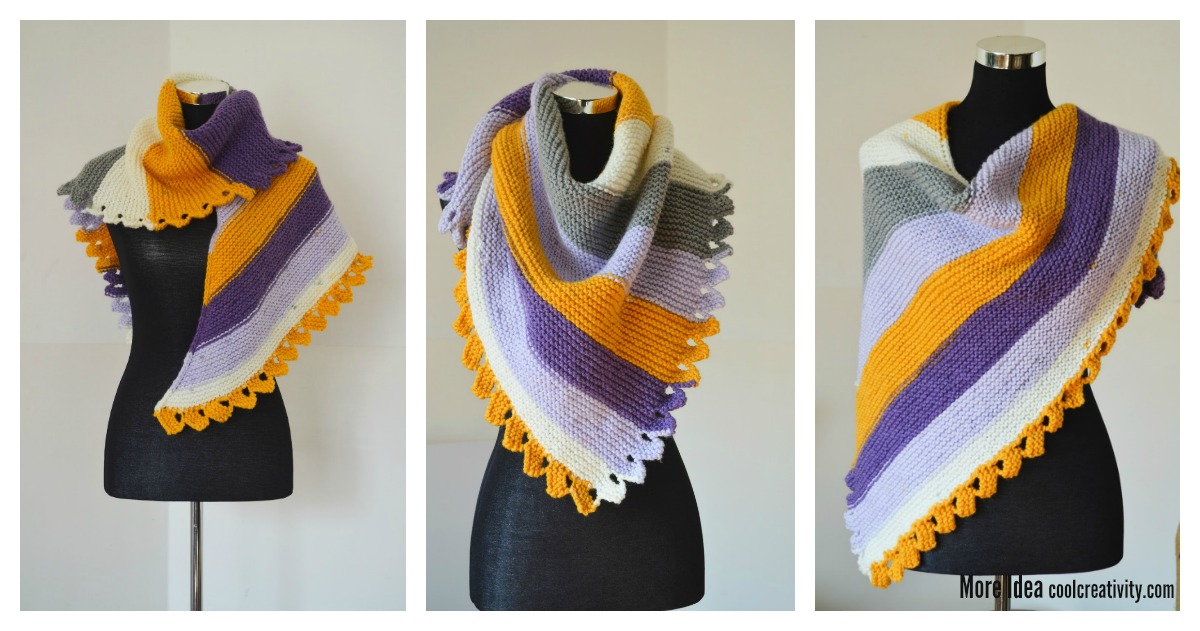 Dragon Tail Shawl Free Knitting Pattern